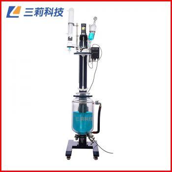SJS212-1L手动升降双层玻璃反应釜1升降双层玻璃反应釜