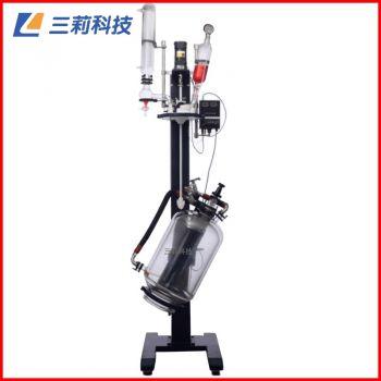 升降调速玻璃反应釜 SJS212-20L自动升降反应器 一体反应釜
