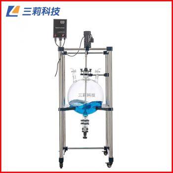 FY-50L球形釜体玻璃分液器 50升常温搅拌玻璃反应釜