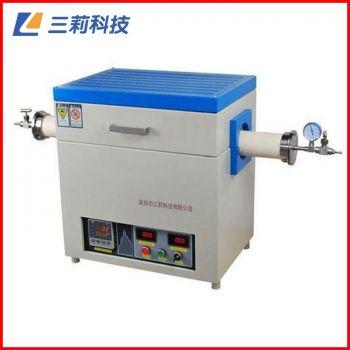 SK2-8-14TPC6管式电阻炉 φ100mm 1400℃通气氛抽真空高温管式炉