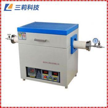 SK2-6-14TPC3管式电阻炉 φ80mm 1400℃通气氛抽真空高温管式炉