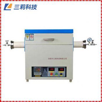 定制SK2-5-14TPB4管式电阻炉 φ80mm 1400℃通气氛抽真空高温管式炉